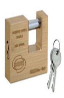 cadeados corbin fabricados em latão modelo quadrado