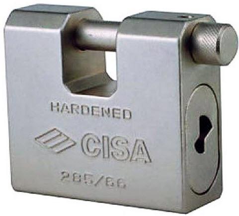 Cadeados Cisa de maxima segurança, fabricados em aço maganes
