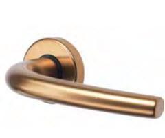 puxador de alumínio interior em bronze