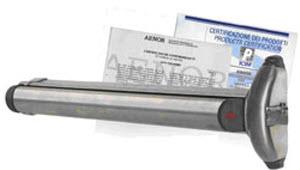 barra anti panico cisa modelo touch bar inox em acabamento