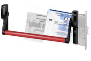 barra anti panico cisa para portas corta fogo com fechadura de embutir