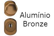 Conjunto de ferragens para portas blindadas Gardesa com fechadura de cilindro em alumínio bronze