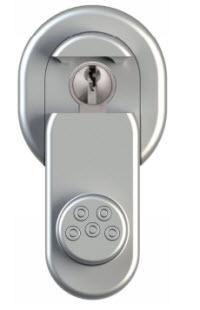 escudo de segurança aberto para introduzir a chave