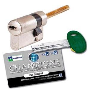 cilindro de segurança Mottura com haste de 90 mm para esquema de segurança chave /roseta