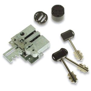 Segredo securemme para fechaduras de portas blindadas com 3 chaves de duplo palhetão
