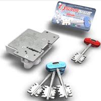 Segredo Securemme com 3 chaves de duplo palhetão normais mais uma chave de serviço/empregada. Sistema anti gazua incluido