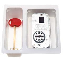Núcleo para fechaduras para portas blindadas com 2 voltas de funcionamento.
