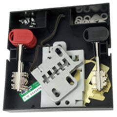 Jogo de 6 segredos com 3 chaves de palhetão para fechaduras de sobrepor em portas de madeira