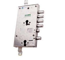 Fechadura Mottura para portas blindadas, o cilindro inferior funciona como 2 tranca na fechadura principal