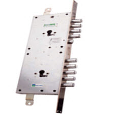 Fechadura Mottura para portas blindadas fabricadas por medida, sendo concebida por 2 fechaduras num sistema único.