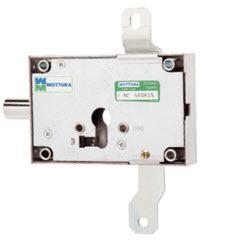 Fechadura mottura para bloquear as trancas verticais existentes numa porta blindada, funciona com cilindro e defender de segurança e trinco lateral.