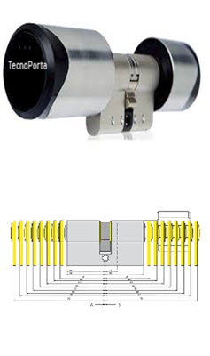 cilindros com chaves electronicas feitos por medida na Tecnoporta