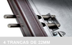 4 TRANCAS DE AÇO 22 M/M