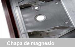 chapa de magnesio resistente a qualquer tipo de broca ou discos de cortar com maquinas electricas