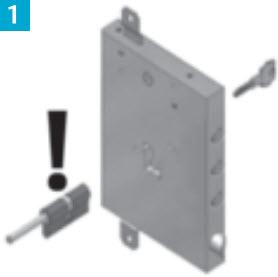 o cilindro de segurança Tokoz é inserido na porta blindada gardesa pelo lado interior, sendo necessário desmontar os espelhos interiores previamente