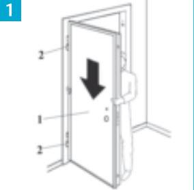 Encaixe a porta blindada nas dobradiças na vertical e se a porta estiver parada, é sinal que tem o aro nivelado e esta tudo bem. SE A PORTA COMEÇAR A FECHAR SOZINHA É SINAL QUE ESTÁ COM DEFEITO A MONTAGEM DO PRE ARO. VOCE NÃO TÊM O ARO NIVELADO… NÃO INVENTE ANILHAS E ESSAS COISAS, POIS O QUE NASCE TORTO COM O TEMPO NÃO SE INDIREITA….!!!!