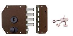 Fechadura segurança sem trancas com 3 chaves de bomba
