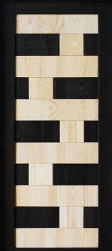 Painel fenólico com 2 tipos de madeira embutidos um no outro, encaixado tipo lego. De serie fabricamos este modelo com wengue e pinho, mas também podemos fabricar com outros tipos de madeiras consoante o gosto do cliente e seu arquitecto.